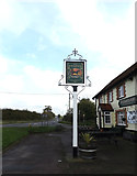 TM1678 : The Horseshoes Public House sign by Adrian Cable