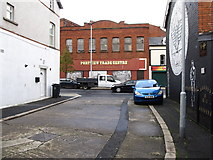 J3674 : Part of the Portview Trade Centre visible from an unnamed cul-de-sac on the Newtownards Road by Eric Jones