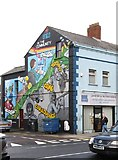 J3674 : Unite in the Community Mural at the junction of Newtownards Road and Witham Street by Eric Jones