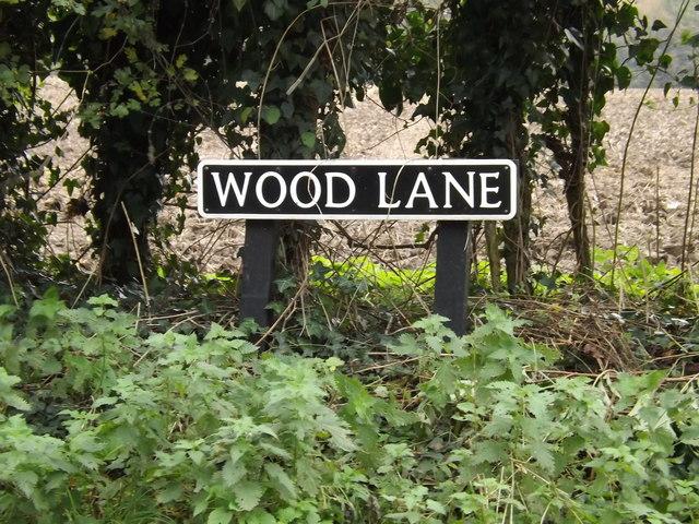 Wood Lane sign