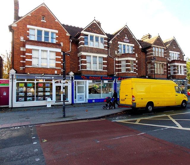 Yellow van in Oxford