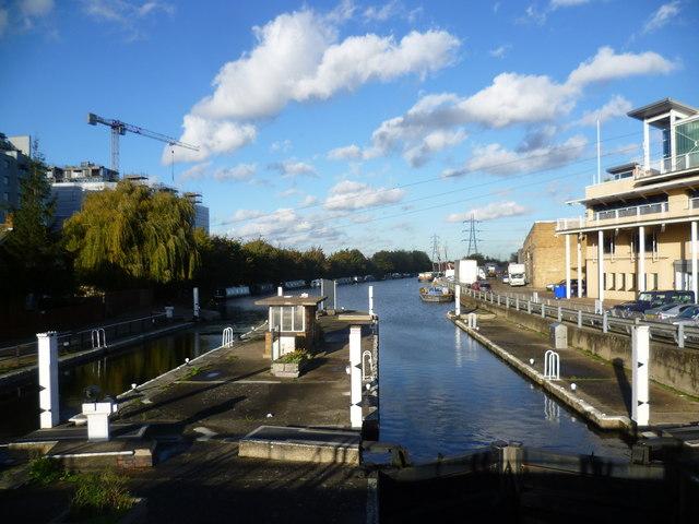 Tottenham Lock on the River Lee Navigation