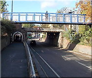 SP5006 : Botley Road footbridge and railway bridge, Oxford by Jaggery
