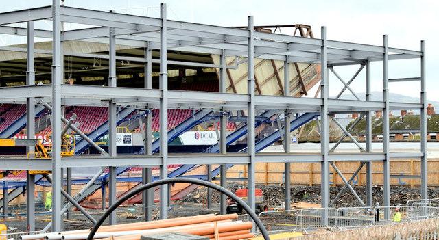 The new Railway Stand, Windsor Park, Belfast - November 2014(1)