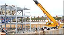 J3272 : The new Railway Stand, Windsor Park, Belfast - November 2014(2) by Albert Bridge