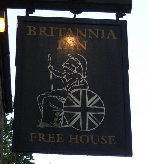 Sign for the Britannia Inn