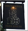 SX0553 : Sign for the Britannia Inn by JThomas
