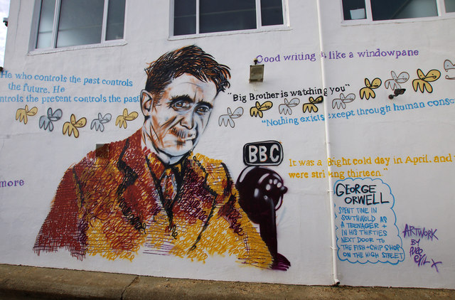 George Orwell mural, Southwold Pier