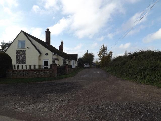 School Lane & footpath