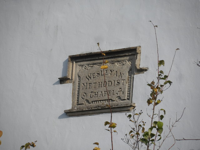 Plaque on former Wesleyan chapel, Ludgershall