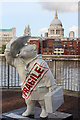 "TQ3180 : ""Fragile"" Paddington Bear, Millennium Bridge by Oast House Archive"