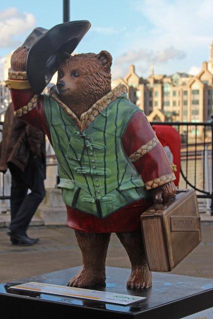 """Shakesbear"" Paddington Bear, Millennium Bridge"