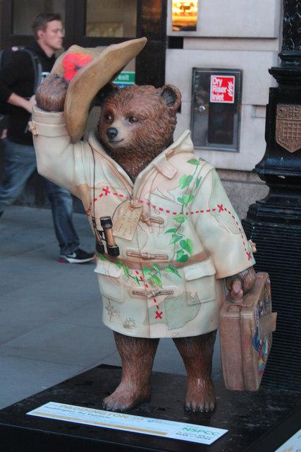 """Paddington The Explorer"" Paddington Bear, Piccadilly Circus"