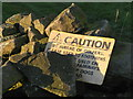 SK2796 : Caution Beware of Golfers by Dave Pickersgill