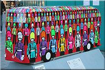 TQ2980 : Bus Art, 'Rock N Royal' by Oast House Archive