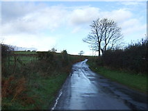 SX3257 : Minor road heading north, Carracawn Cross by JThomas