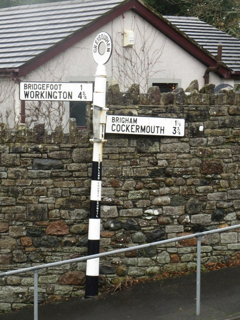 Road sign in Greysouthen