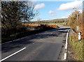 SS9583 : Road bridge over a stream SE of Heol-y-cyw by Jaggery