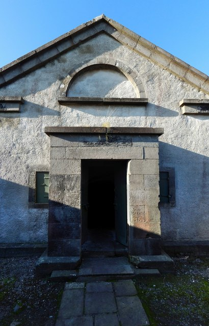Dumbarton Castle: Magazine entrance