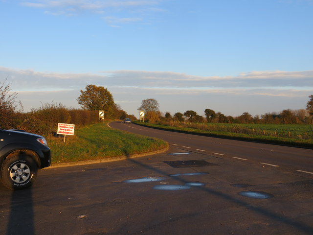 Road (A148) near The Anchorage