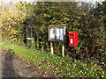 TM1681 : Norwich Road Postbox & Telephone Box by Adrian Cable