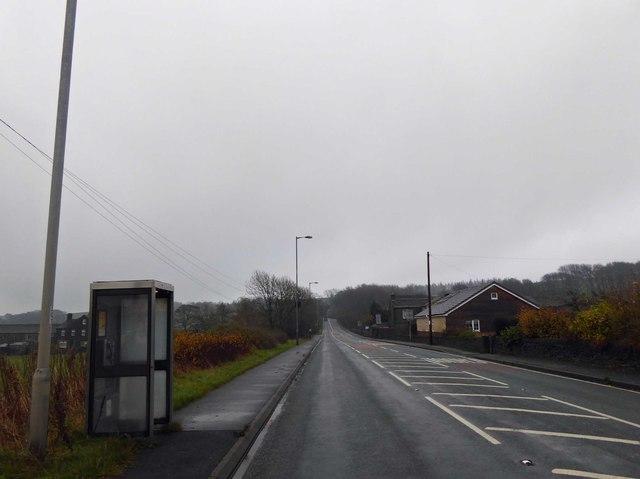 Birds Edge phone box on the A629