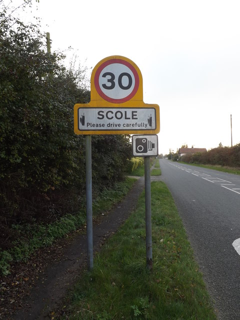 Scole Village Name sign