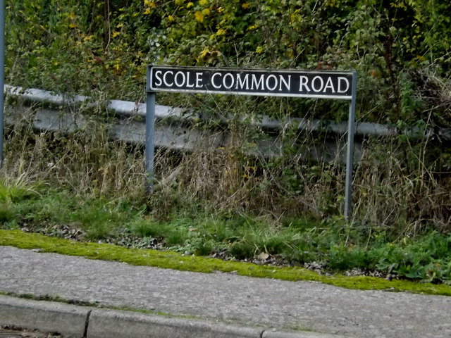 Scole Common Road sign
