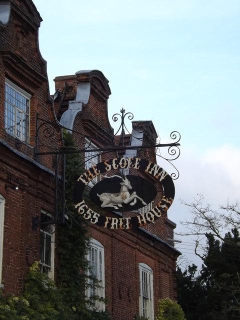 The Scole Inn Public House sign
