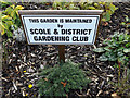 TM1478 : Scole & District Gardening Club sign by Adrian Cable