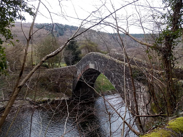 North side of Pont-y-gwaith over the River Taff