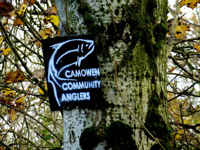 Camowen Community Anglers sign, Bancran