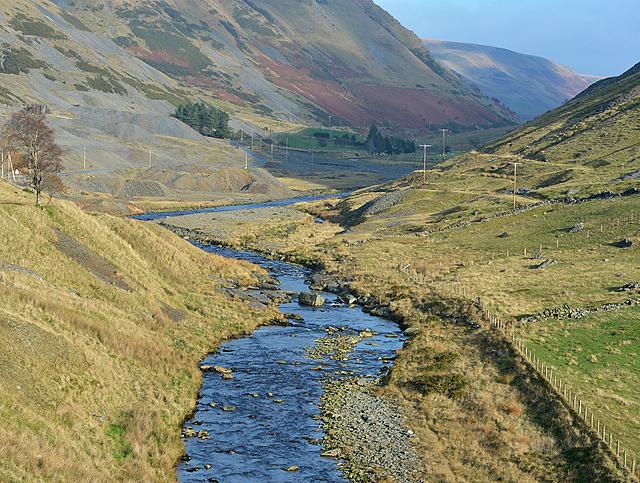 The Afon Ystwyth leaving the mines