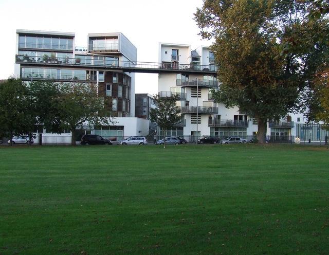 Modern flats on Greendyke Street