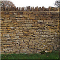 SP1720 : Modern dry stone wall, Roman Way, Bourton-on-the-Water by Robin Stott
