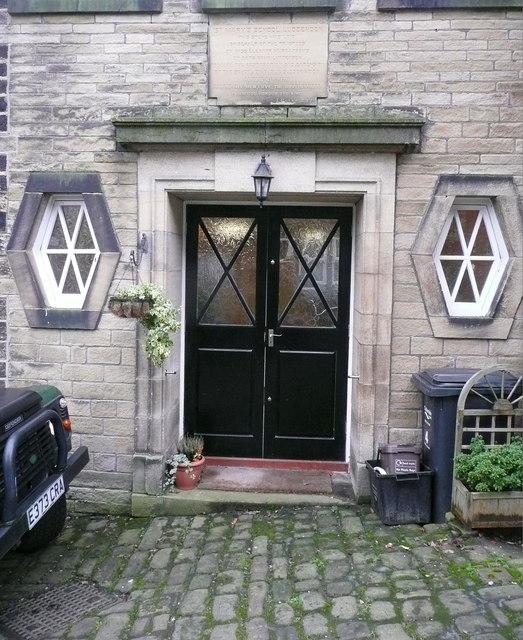 Doorway to St Mary's Church School, Luddenden