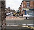 SJ9594 : Workmen on Church Street by Gerald England