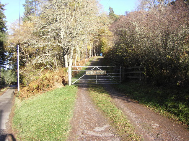 Gated entrance to Easter Boleskine