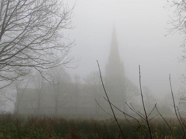 St. Peter's, Belmont, on a misty morning