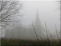 SD6715 : St. Peter's, Belmont, on a misty morning by Philip Platt