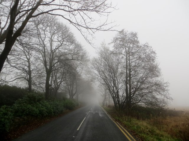 Rivington Road on a misty autumn morning