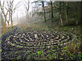 SD9771 : Restored labyrinth at Scargill House by Stephen Craven