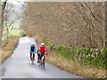 SD9865 : Wharfedale cyclists by Stephen Craven