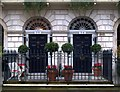 TQ2982 : Georgian doorways, Fitzroy Square by Julian Osley