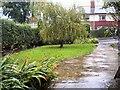 SJ9593 : Heavy rain on Werneth Avenue by Gerald England