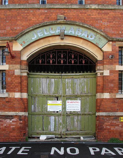 Taunton: the gate of Jellalabad Barracks