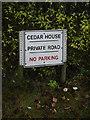 TM1478 : Cedar House sign by Geographer
