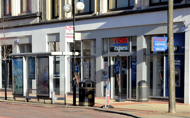 New Tesco Express, Royal Avenue, Belfast (November 2014)