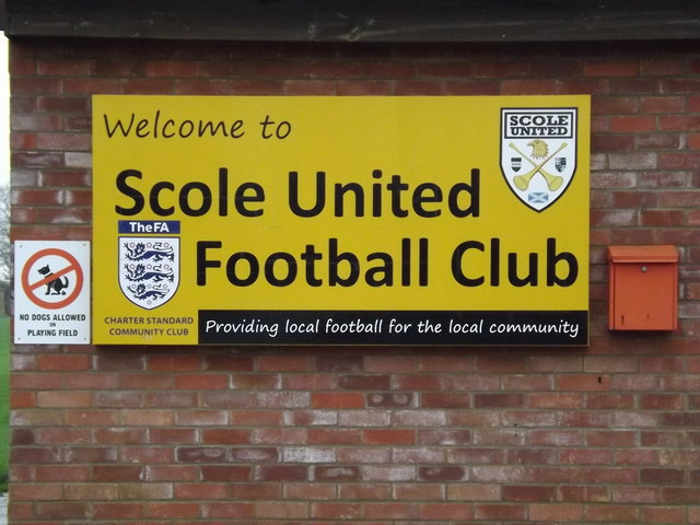 Scole United Football Club sign