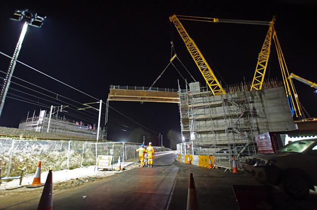 Folly Railway Bridge construction